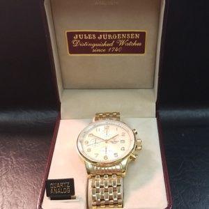 Jules Jurgensen Chrono gold watch